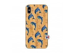 Coque Bois iPhone XS MAX Dauphins