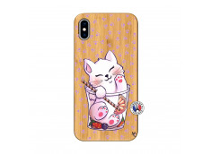Coque Bois iPhone XS MAX Smoothie Cat