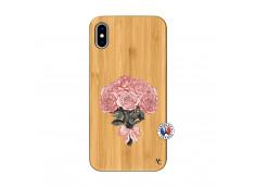 Coque iPhone XS MAX Bouquet de Roses Bois Bamboo
