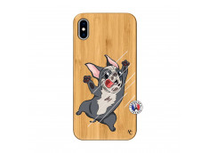 Coque iPhone XS MAX Dog Impact Bois Bamboo