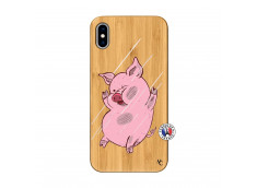 Coque iPhone XS MAX Pig Impact Bois Bamboo