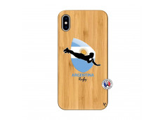 Coque iPhone XS MAX Coupe du Monde Rugby-Argentine Bois Bamboo