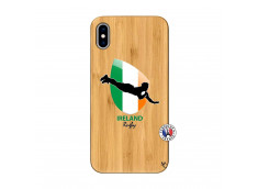 Coque iPhone XS MAX Coupe du Monde Rugby-Ireland Bois Bamboo