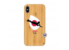 Coque iPhone XS MAX Coupe du Monde Rugby-Japan Bois Bamboo