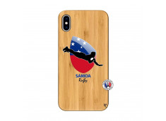 Coque iPhone XS MAX Coupe du Monde Rugby-Samoa Bois Bamboo