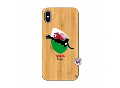 Coque iPhone XS MAX Coupe du Monde Rugby-Walles Bois Bamboo