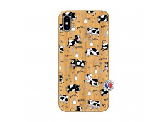 Coque iPhone XS MAX Cow Pattern Bois Bamboo