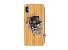 Coque iPhone XS MAX Dandy Skull Bois Bamboo