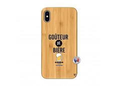Coque iPhone XS MAX Gouteur De Biere Bois Bamboo