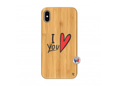 Coque iPhone XS MAX I Love You Bois Bamboo