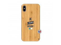 Coque iPhone XS MAX Je Crains Degun Bois Bamboo