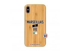 Coque iPhone XS MAX Marseillais à Vie Bois Bamboo