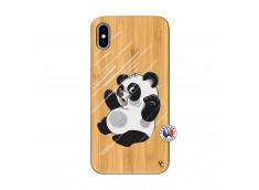 Coque iPhone XS MAX Panda Impact Bois Bamboo