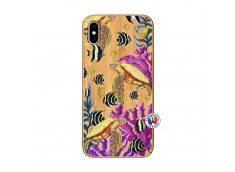 Coque iPhone XS MAX Aquaworld Bois Bamboo