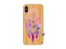 Coque iPhone XS MAX Purple Dreamcatcher Bois Bamboo