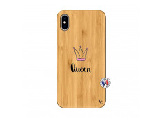 Coque iPhone XS MAX Queen Bois Bamboo