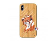 Coque iPhone XS MAX Fox Impact Bois Bamboo
