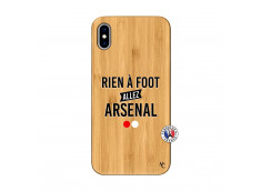 Coque iPhone XS MAX Rien A Foot Allez Arsenal Bois Bamboo