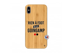 Coque iPhone XS MAX Rien A Foot Allez Guingamp Bois Bamboo