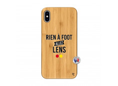 Coque iPhone XS MAX Rien A Foot Allez Lens Bois Bamboo