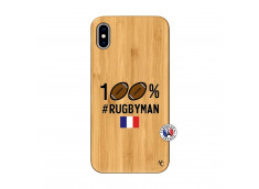 Coque iPhone XS MAX 100% Rugbyman Bois Bamboo