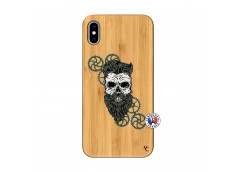 Coque iPhone XS MAX Skull Hipster Bois Bamboo