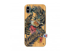 Coque iPhone XS MAX Leopard Tree Bois Bamboo