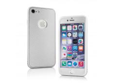Coque iPhone 7/8 Full Cover Carbon-Argent