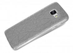 Coque Samsung Galaxy A3 2016 Glitter Triangle -Argent