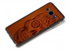 Coque Samsung Galaxy A3 Skull Wood