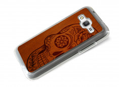 Coque Samsung Galaxy Core Prime Skull Wood