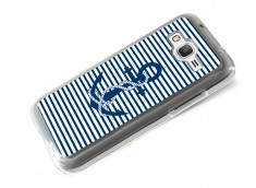 Coque Samsung Galaxy Core Prime Ancre et Marinière