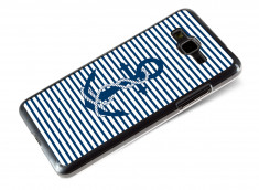 Coque Samsung Galaxy Grand Prime Ancre et Marinière