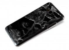 Coque Samsung Galaxy Grand Prime Effet Marbre- Noir