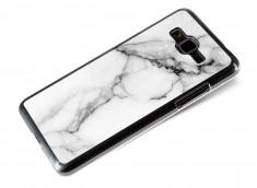 Coque Samsung Galaxy Grand Prime Effet Marbre- Blanc