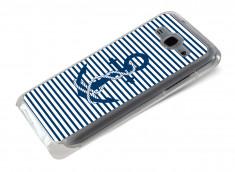 Coque Samsung Galaxy J5 Ancre et Marinière