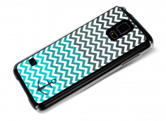 Coque Samsung Galaxy S5 Blue Chevrons
