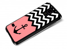 Coque Samsung Galaxy S5 Pink Anchor