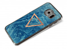 Coque Samsung Galaxy S6 Blue Wood