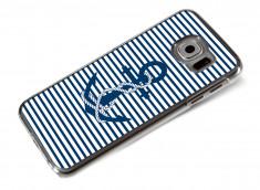 Coque Samsung Galaxy S6 Ancre et Marinière