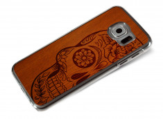 Coque Samsung Galaxy S6 Skull Wood