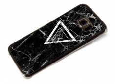 Coque Samsung Galaxy S6 Edge Black Marble