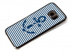 Coque Samsung Galaxy S6 Edge Ancre et Marinière