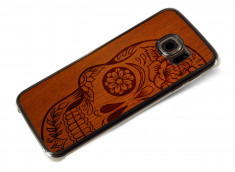 Coque Samsung Galaxy S6 Edge Skull Wood