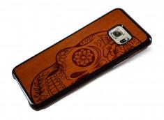 Coque Samsung Galaxy S6 Edge Plus Skull Wood