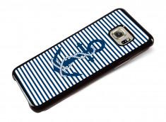 Coque Samsung Galaxy S6 Edge Plus Ancre et Marinière