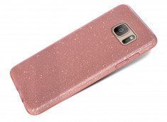 Coque Samsung Galaxy S7 Edge Glitter Protect-Rose Gold
