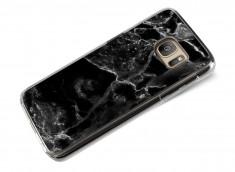 Coque Samsung Galaxy S7 Edge Effet Marbre- Noir