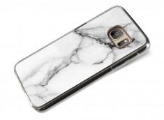 Coque Samsung Galaxy S7 Effet Marbre- Blanc