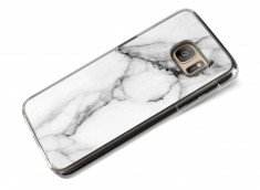 Coque Samsung Galaxy S7 Edge Effet Marbre- Blanc